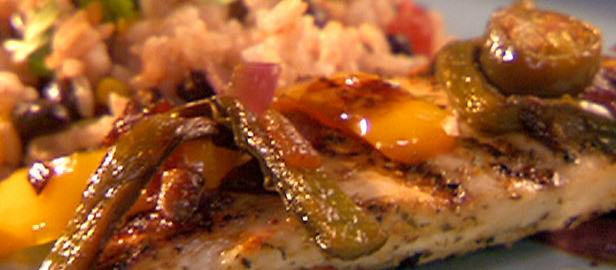 Grilled Chicken with Jalapeno Onions