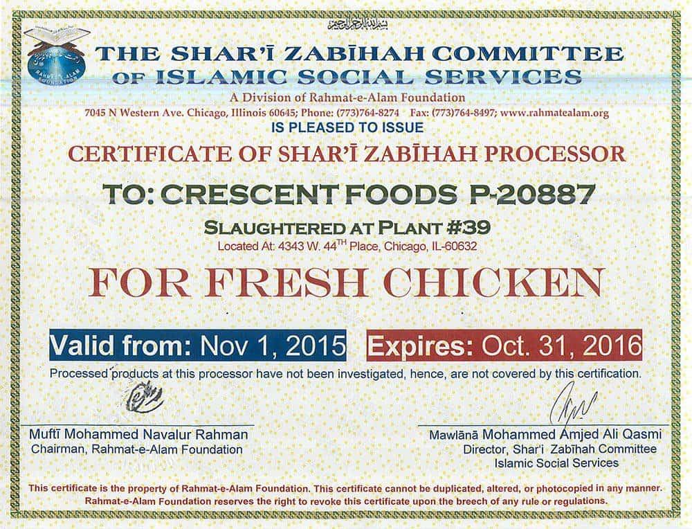 Crescent-Halal-Certification