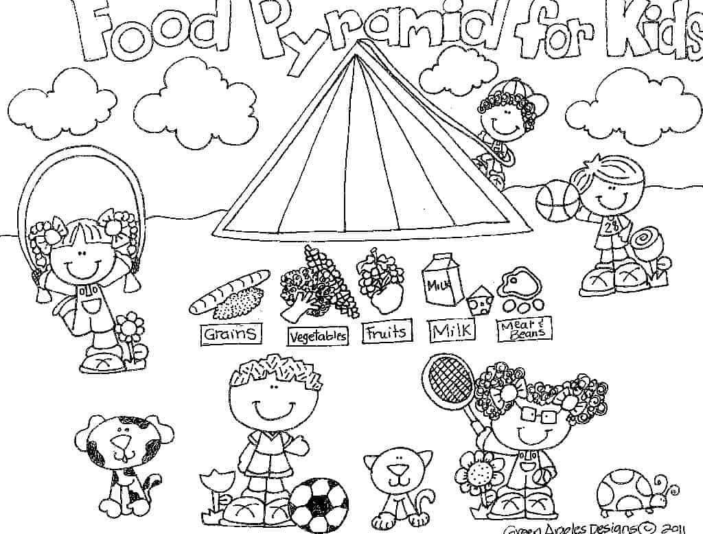 Coloring Pages Healthy Foods