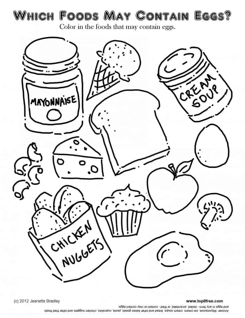 Coloring sheets crescent foods premium all natural halal for Coloring pages food