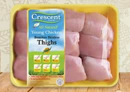 Crescent boneless skinless thighs