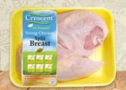 Crescent split breast