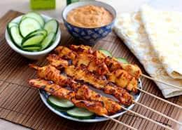Thai Chicken Sate with Peanut Sauce Recipe
