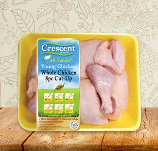 Crescent whole chicken 8pc cut