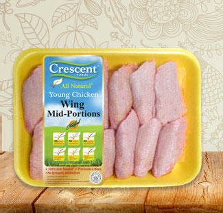 Crescent wing mid portions