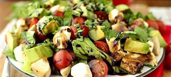 Avocado Chicken Caprese Salad