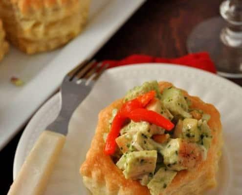 Puff Pastry Pesto Chicken