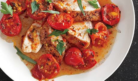 Chicken with Herb-Roasted Tomato