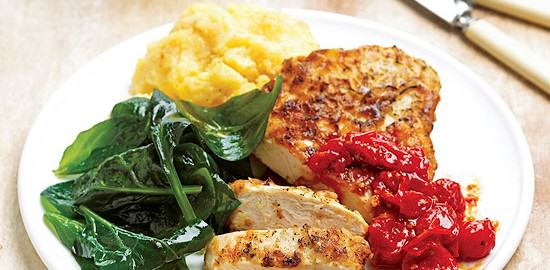 Pan-fried Chicken with Tomato Jam