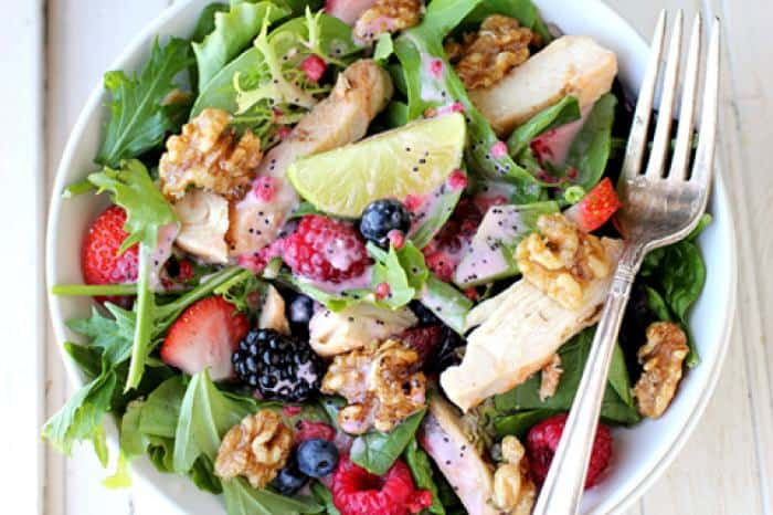 Grilled Chicken and Fruit Salad - Crescent Foods Premium All Natural ...