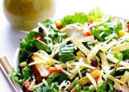 Santa Fe Salad with Cilantro-Lime-Peanut Vinaigrette