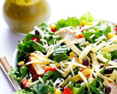 Santa Fe Salad with Cilantro-Lime-Peanut Vinaigrette
