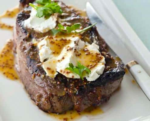 Ribeye Goat Cheese and Meyer Lemon Honey Mustard