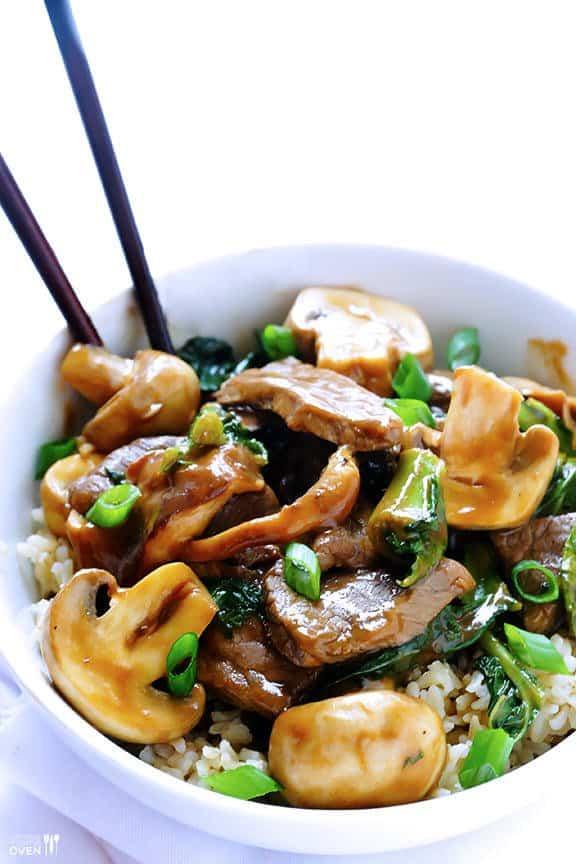 Ginger Beef, Mushroom & Kale Stir-Fry - Crescent Foods ...